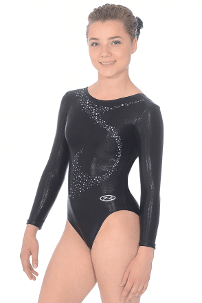 Long Sleeve Shine Leotard Motif 1