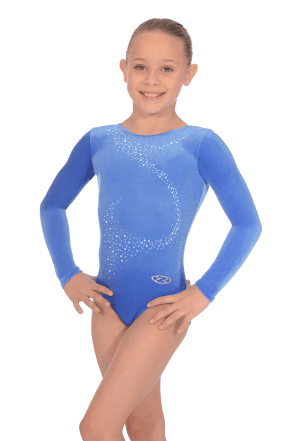 Long Sleeve Smooth Velour Leotard Motif 1